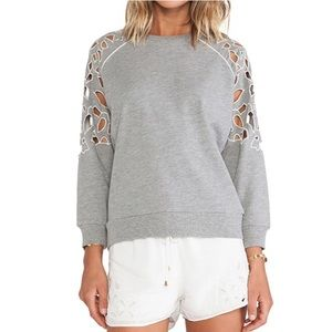 Lovers + Friends Eden Pullover in Heather Gray
